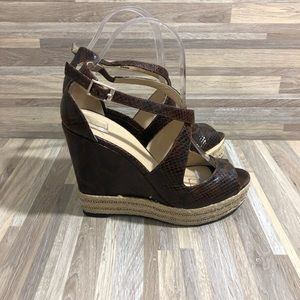 Brian Atwood BF DEKODA Wedge Sandals size 8.5